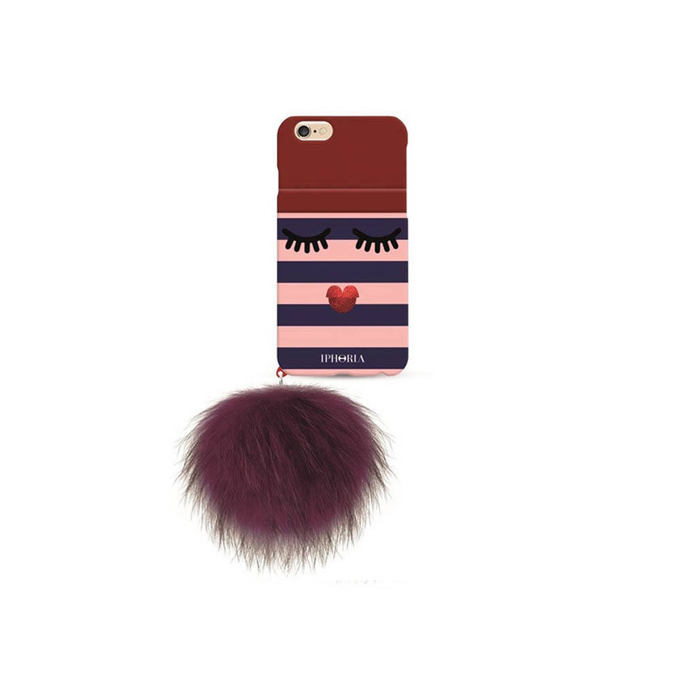 Monster Golden Stripes with red racoon pom pom iPhone 7/8/SE2 CASE